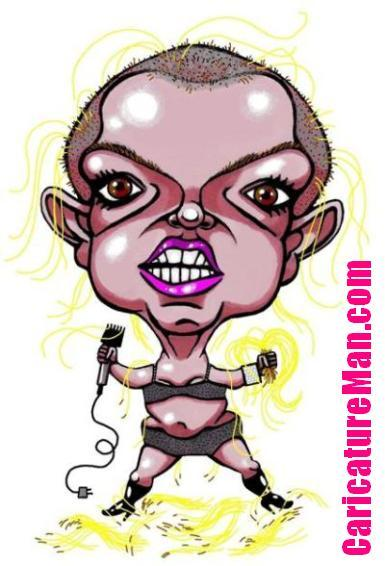 britney spears bald. Bald Britney Spears Caricature