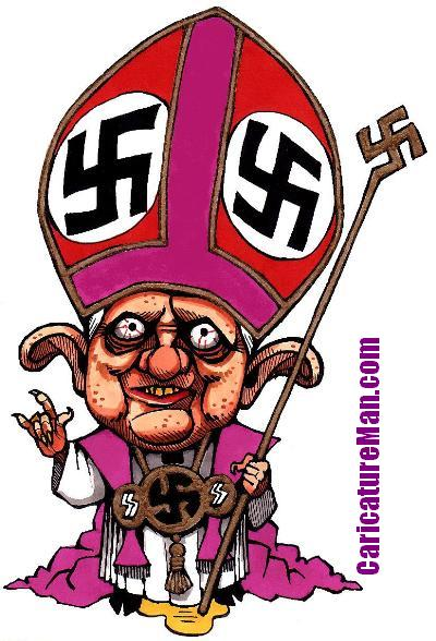 Pope salute Caricature