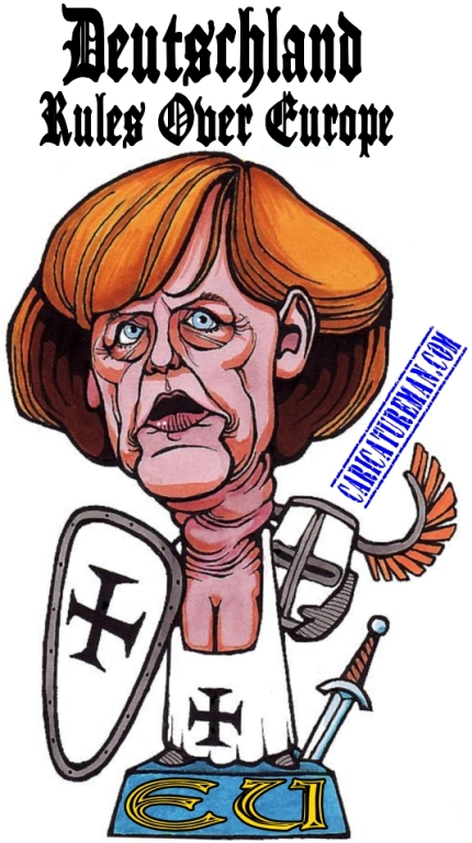 Teutonic Angela Merkel Caricature