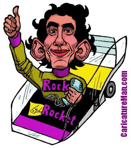 Ayrton Senna Caricature