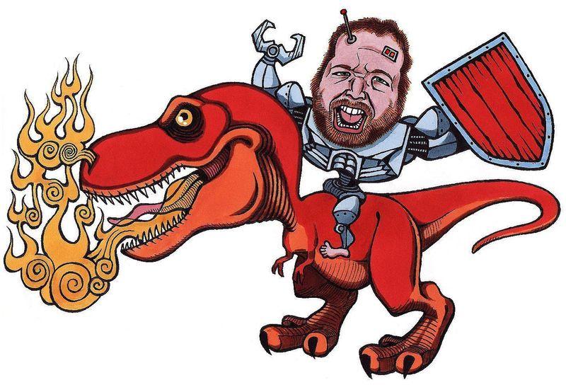 T-Rex-Rider-Caricature
